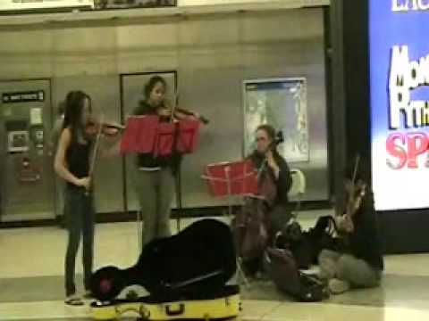 Canon in D Jam Out in Powell Muni Station San Francisco
