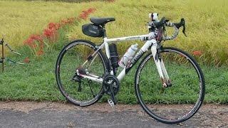 楽しい里山サイクリング。ですが雨が…。 お彼岸の中日、実った田んぼと...