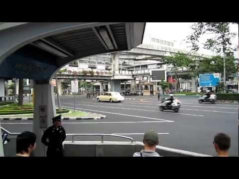 Thai Royal Family Motorcade