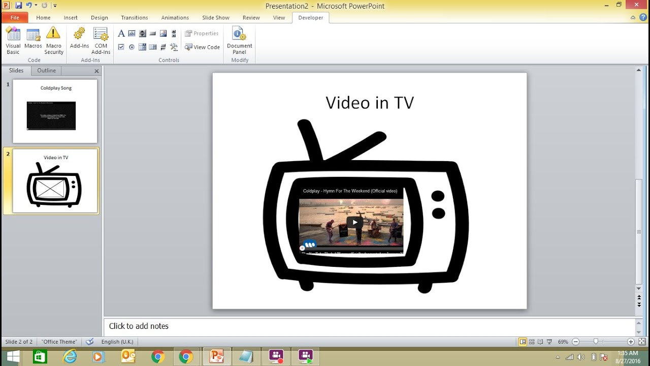 How To Insert A Youtube Video Into A Powerpoint 2010 Presentation