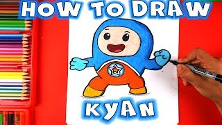 How to Draw Kyan from Go Jetters - CBeebies