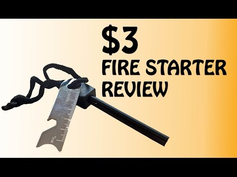 How To Use A Fire Starter   Survival Gear
