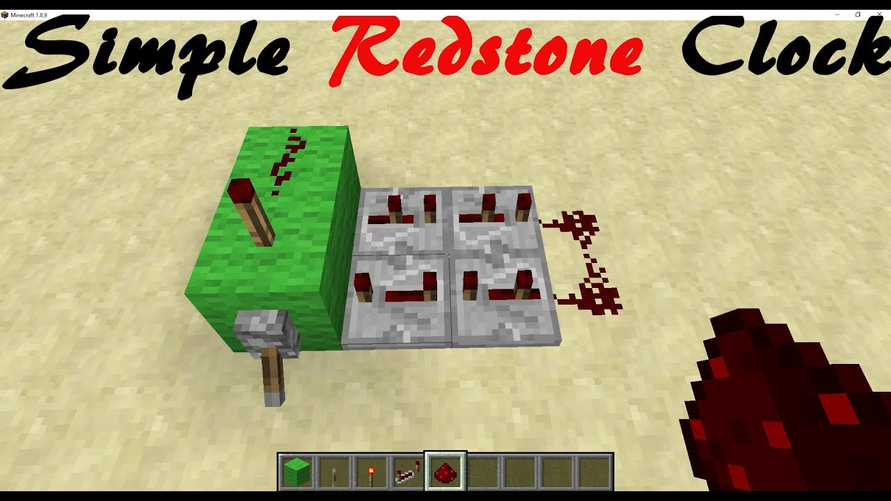 Simple Redstone Clock On Off Switch Minecraft De Youtube Related To How Create A Repeating Circuit