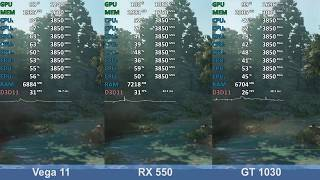 Far Cry New Dawn - GeForce GT 1030 vs. Radeon RX 550 vs. Ryzen 5 2400G Vega 11 - Benchmark Test