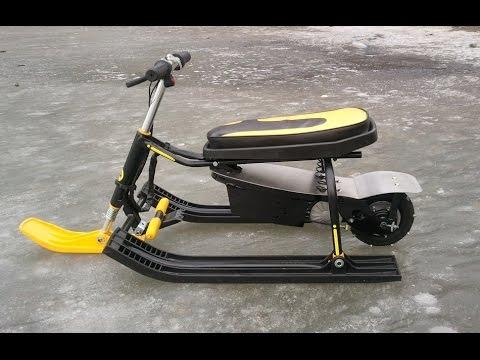 снегокат для детей с мотором
