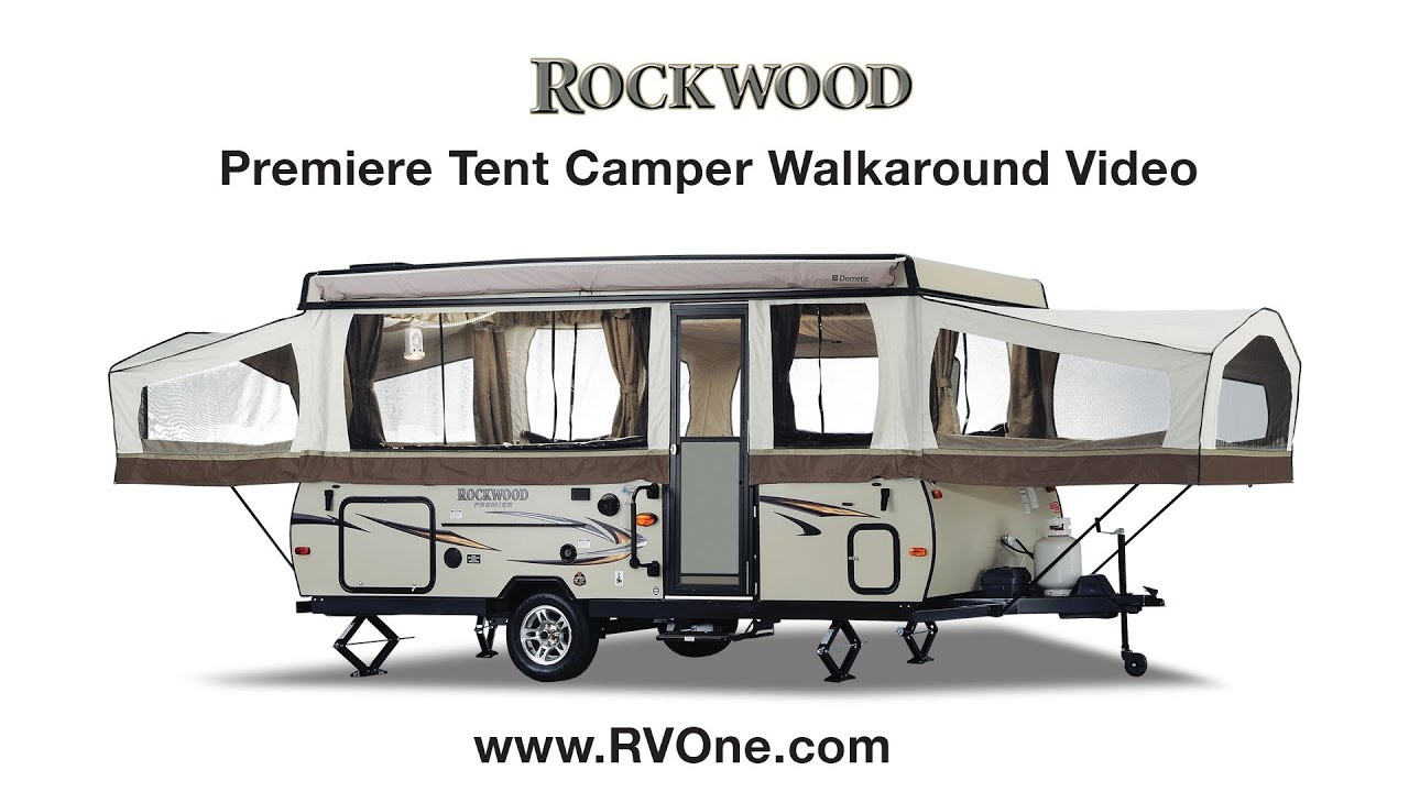 Rockwood Premiere Tent Camper Walkaround Video Youtube