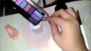How To Make Acrylic Color Using Eyeshadow