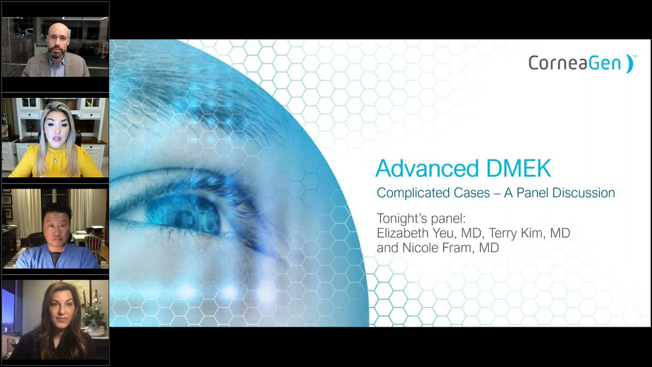 Advanced DMEK: A Roundtable Discussion on Complicated Cases