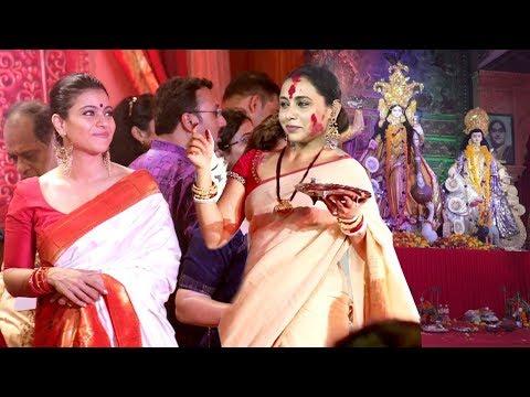 Bollywood Celebs Durga Puja 2018 - Kajol,Rani Mukherjee,Aamir Khan Wife,Sushmita Sen