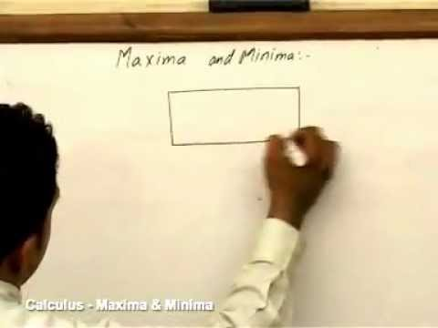 calculus maxima and minima youtube. Black Bedroom Furniture Sets. Home Design Ideas