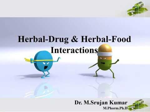 Herbal Drug & Herbal Food Interactions