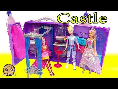 Queen Elsa Goes To Star Light Adventure Movie Barbie Galactic Castle Playset