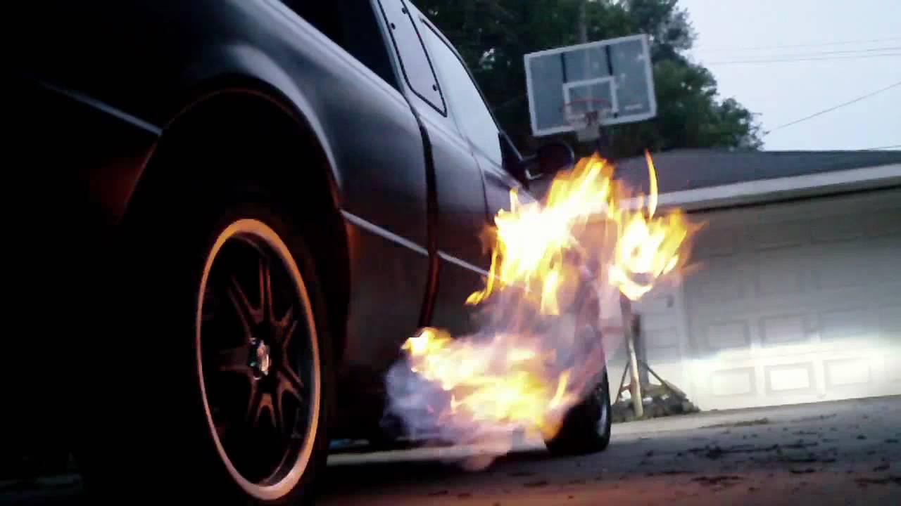 Truck propane flame thrower