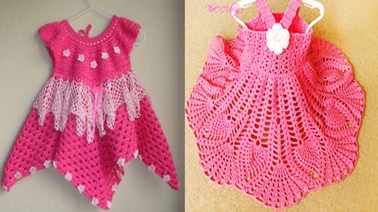 Hermoso Vestidos De Niña Tejidos En Crochet Diseños