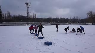 Snow Rugby - trening na śniegu