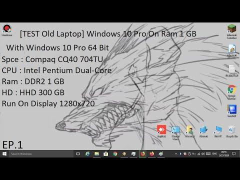 [TEST Old Laptop] Windows 10 Pro Lite 64 Bit