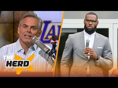Colin Cowherd reacts to President Donald Trump's tweet about LeBron James  NBA  THE HERD