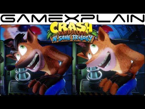 Crash Bandicoot: The N-Sane Trilogy Graphics Comparison (Switch vs PS4)