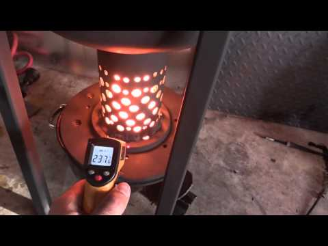 DIY Waste Oil Burner -- How Hot Can It Get in 20 mins?