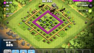 245/138/1200 - Attack (11 Dragons) - Clash of Clans