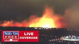 Sierra Fire Near San Bernardino, CA - LIVE COVERAGE