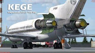 Prepar3D - Captain Sim 727-100 landing at orbx KEGE