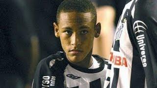 asi jugaba neymar cuando tenia ficha del real madrid   amazing player hd