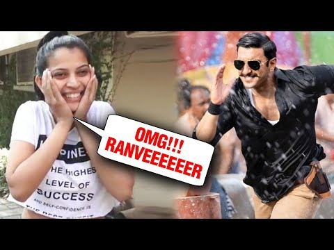 Crazy Female FAN GOES MAD For Ranveer Singh After Watching Simmba