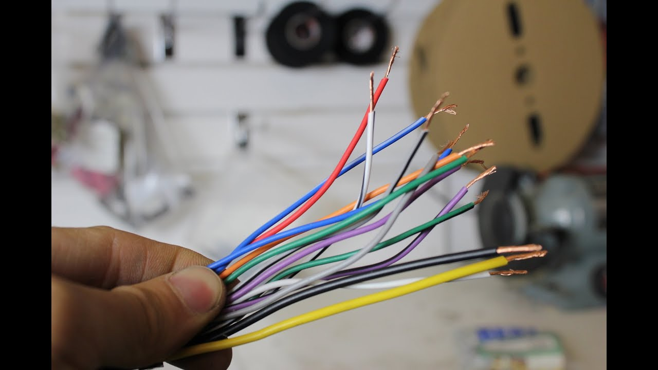 Wiring harness colours explained for a stereo (The 12Volters)  YouTube