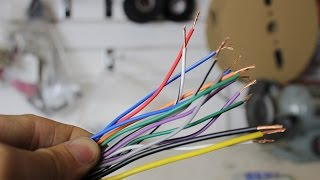 Wiring harness colours explained for a stereo (The 12Volters)