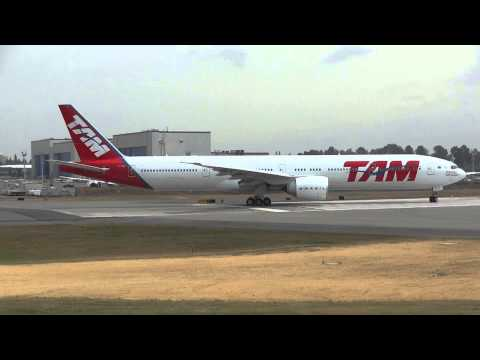 TAM 777-300 delivery flt. To Brazil 07/2013