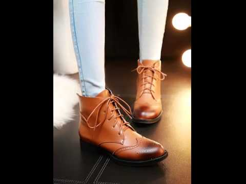 Vintage carved brush off women's boots.avi