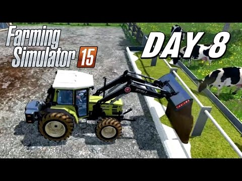 Let's Play Farming Simulator 2015 - Day 8 | Feeding the Cows and Sheep