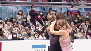 У Виктории Синициной расстегнулось платье во время проката произвольного танца Командный чемпионат