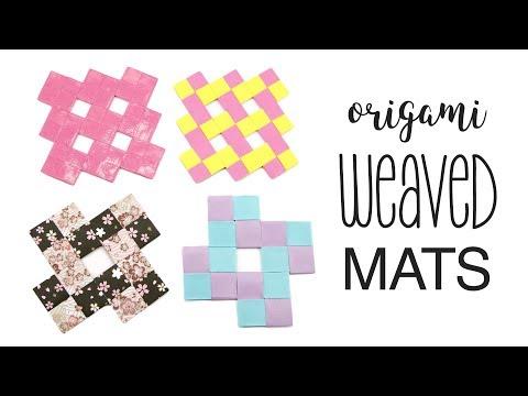 Origami Woven Mats Tutorial - Coasters / Placemats - Paper Kawaii