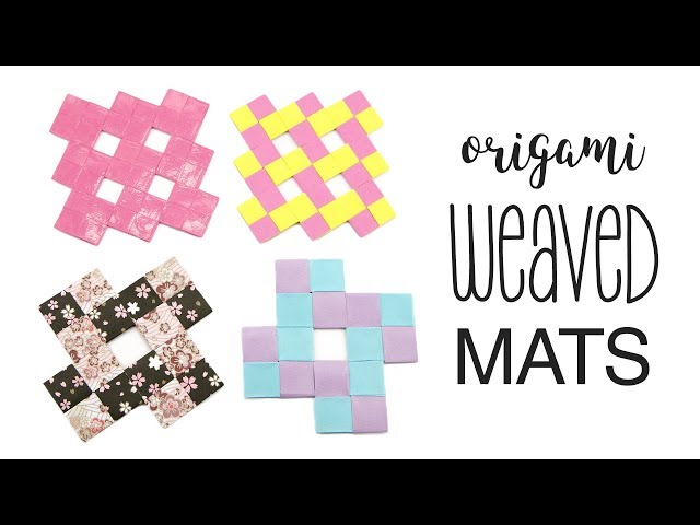 Origami Weaved Mats Tutorial - Coasters / Placemats - Paper Kawaii