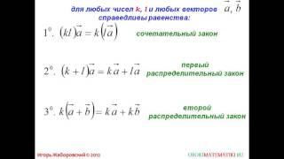 82  Произведение вектора на число