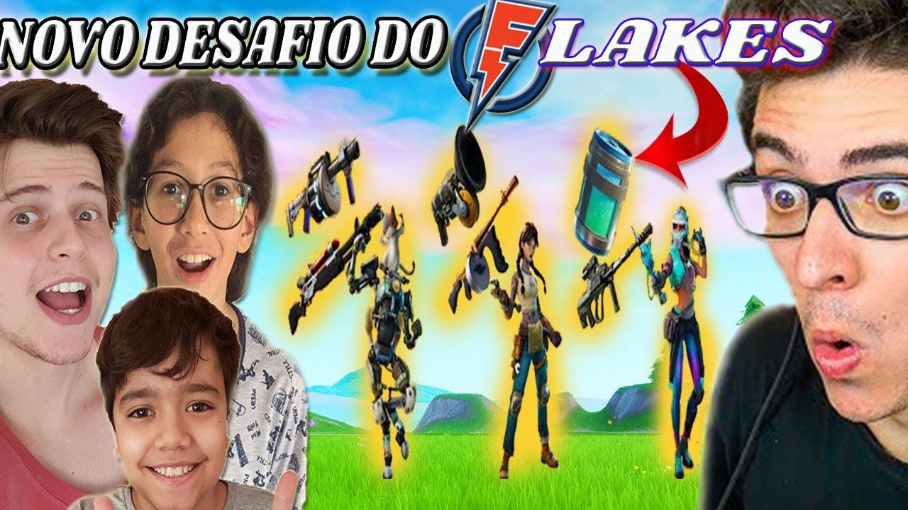 FORTNITE NOVO DESAFIO DO FLAKES POWER | SÓ VALE ARMA DOS NOVOS CHEFÕES DO FORTNITE!