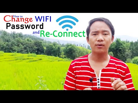 How to change WIFI password and reconnect in Windows 10