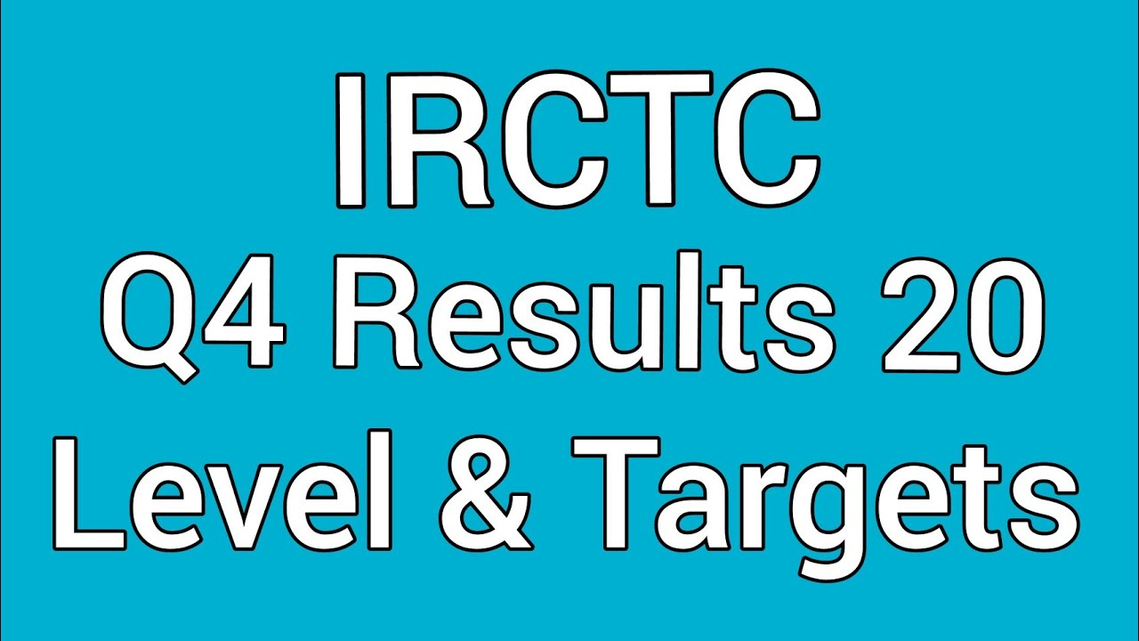 IRCTC Q4 RESULTS 2020 🔥 IRCTC Dividend | Levels & Targets
