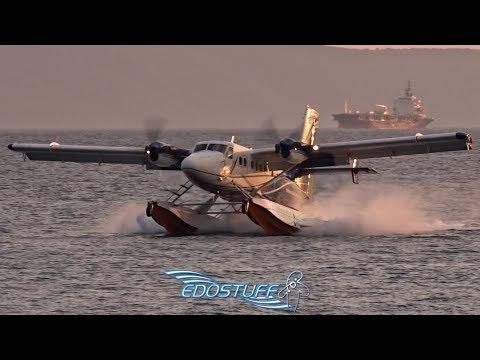 Beautiful Sunset ECA DHC-6-300 Twin Otter Water Landing - Split Harbor Croatia