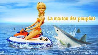 Barbie à la plage. Vidéos avec les poupées pour enfants.