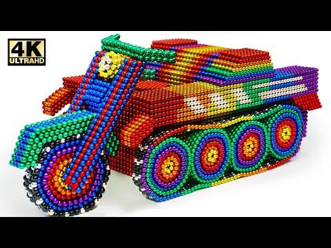DIY - How To Make Motor Tank  From Magnetic Balls (Satisfying) | Magnet World Series