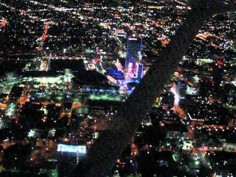 Armenian Air Tour At Night Over Hollywood Los Angeles