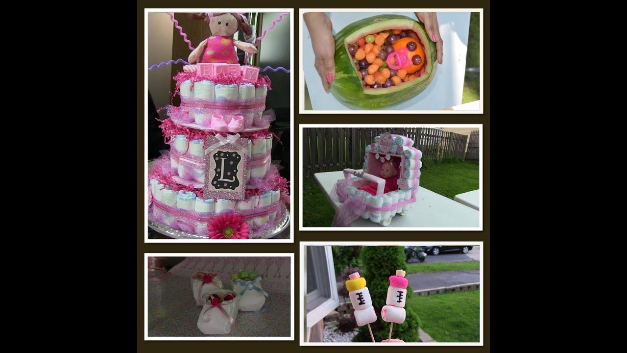 ideas para decorar o regalar en un baby shower