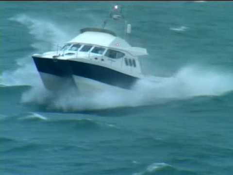 Rough weather sea trials of Wildcat 40 'Seaflower'