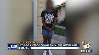 Student asked to change Black Lives Matter shirt