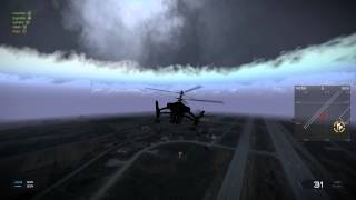Arma3のmodのexileにて。 ヘリで煽ってきた人たちとの戦い。