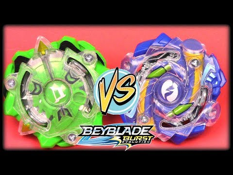 DIOMEDES vs HYRUS Beyblade Burst Evolution Battle!!