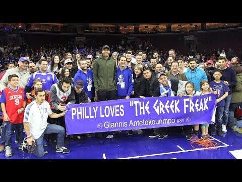 "Philly Loves the ""Greek Freak"", Giannis Antetokounmpo"